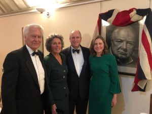 Churchill Dinner 2018; Lord & Lady Owen with Randolph & Catherine Churchill