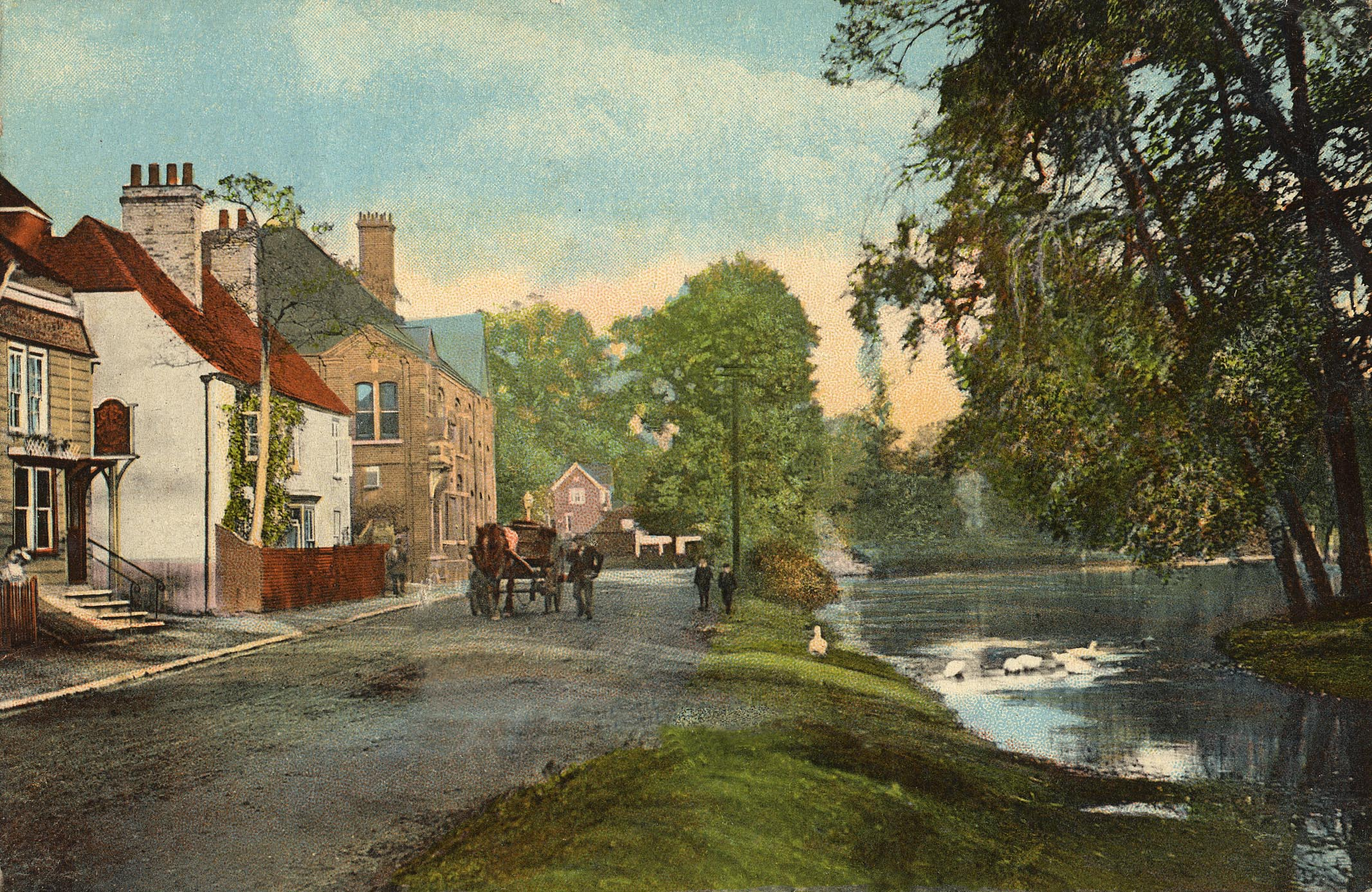 Westerham Long Pond period painting